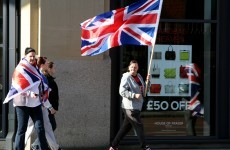 200 take part in Belfast union flag protest