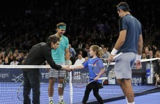 Imagine getting called out on court to play tennis with Nadal, del Potro and Ben Stiller…