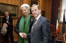 Enda Kenny meets IMF chief Christine Lagarde in Dublin