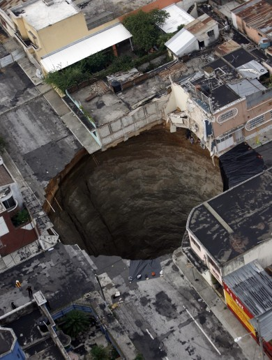 What causes a sinkhole?