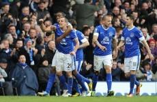 VIDEO: Leon Osman's Brazilian banana kick that has Everton leading Man City at half-time