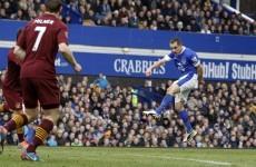 'Angry' Mancini ducks TV after Man City crash at Everton