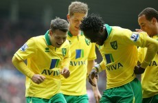 Wes Hoolahan celebrates St Patrick's Day by putting Norwich into the lead