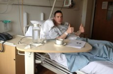 Colm O'Neill gives Cork fans the thumbs up after latest cruciate surgery