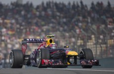 Mark Webber lost a wheel as he took a corner in the Chinese Grand Prix