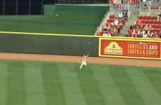 There's something a little bit special about this flying catch by Ben Revere