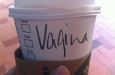 Customer is unimpressed with Starbucks staff writing Vagina on her cup