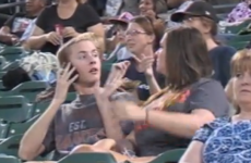 Rude man epically ditched by girlfriend on stadium camera