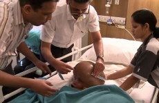 Successful life-saving surgery on baby's rare, swollen head disorder