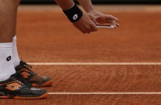 Angry player at French Open takes photo of ball mark with his phone