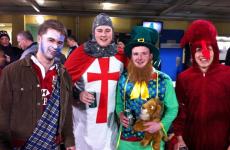 Lions fans unite: Braveheart, dragon, knight and… a leprechaun