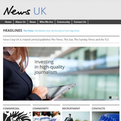 Rupert Murdoch has changed News International's name… to News UK