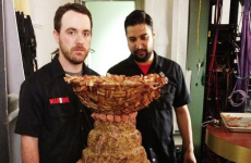 Here's a life-size replica of the Stanley Cup made entirely of meat