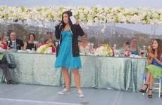 VIDEO: Gangsta-rapping bridesmaid spits some rhymes