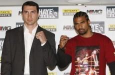 Haye-Klitschko title fight looks almost certain