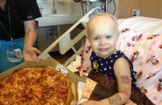 Kid asks for pizza from hospital window… internet sends dozens