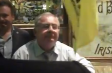 VIDEO: Pat Rabbitte being surrounded by protestors in pub
