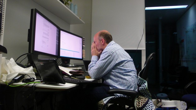 86th of 4th 365: Working late on a Friday