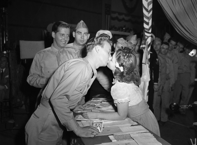 Shirley Temple Kissed 1945