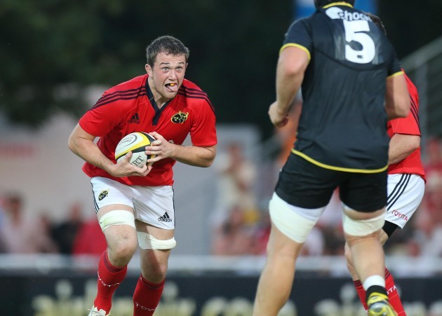Brian Hayes on the attack for Munster