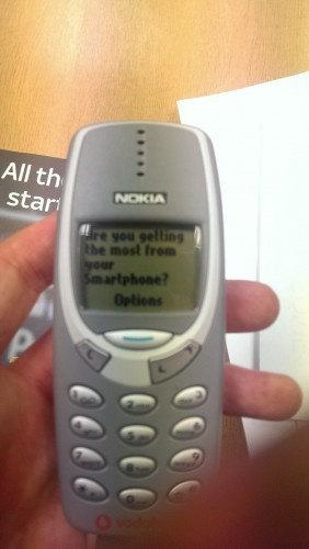I work in a phone shop and just got this text through on a Nokia 3310 - Imgur