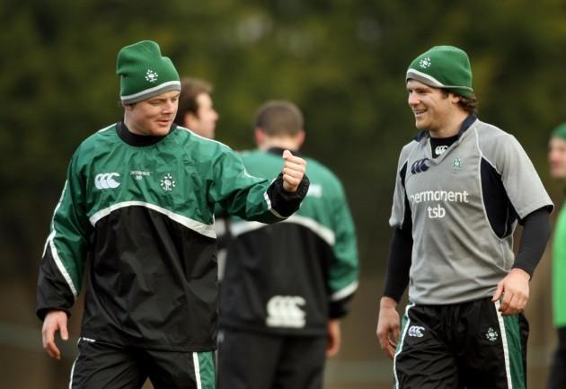 Brian O'Driscoll and Gordon D'Arcy 29/1/2006