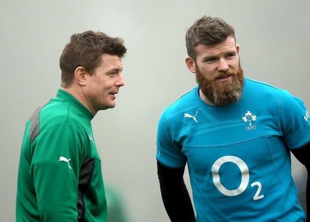 Brian O'Driscoll and Gordon D'Arcy