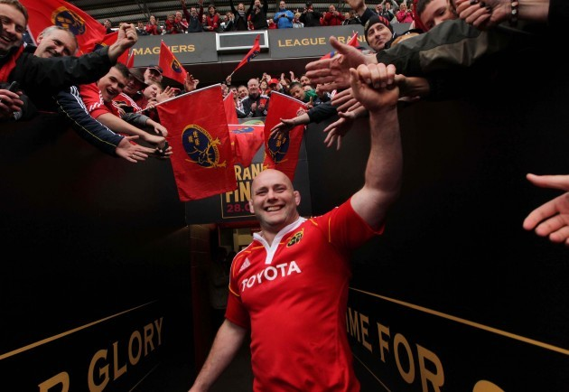 John Hayes says goodbye to the crowd