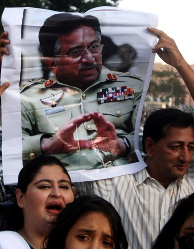 Musharraf supporters protest treason charge