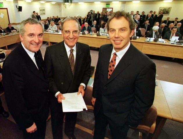 TONY BLAIR GOOD FRIDAY PEACE AGREEMENTS NORTHERN IRELAND TROUBLES CONFLICTS PEACE TALKS PROCESS
