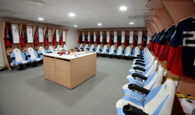 General view of the Munster changing room