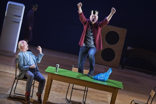 Mark Lambert and Nick Dunning in Abbey Theatre's new production of Twelfth Night by William Shakespeare.  Pic  Ros Kavanagh