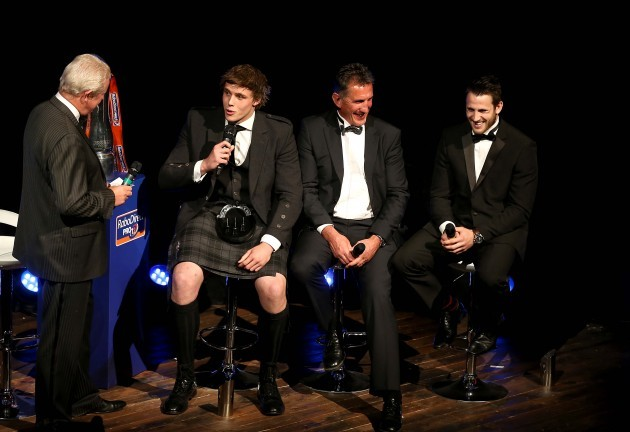 Dougie Donnelly with Jonny Gray, Rob Penney and Tommy Seymour  11/5//2014