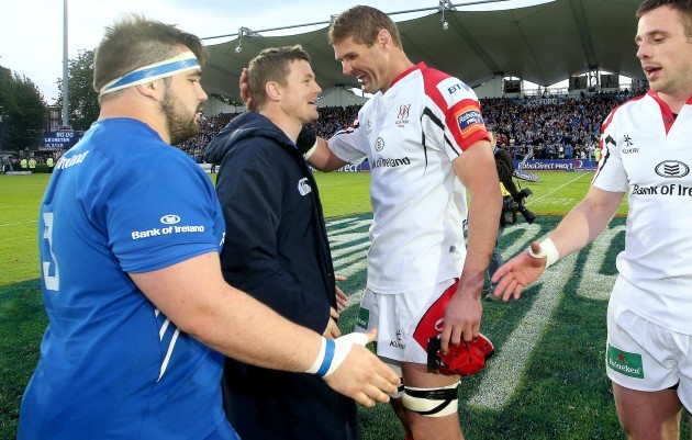 Brian OÕDriscoll and Johann Muller after the game