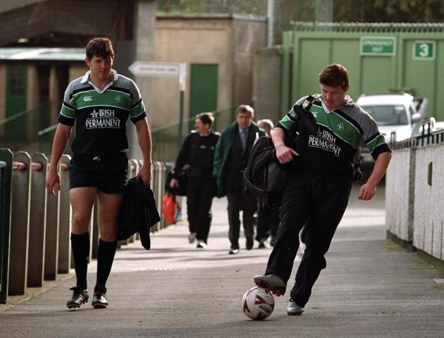 Shane Horgan and Brian O'Driscoll