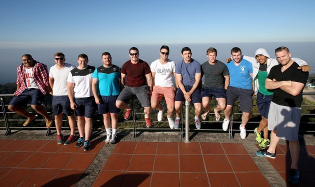 Rodney Ah You, Jordi Murphy, Jack McGrath, David Kilcoyne, Damien Varley, Conor Murray, Felix Jones, Kieran Marmion, James Cronin, Simon Zebo and Jamie Heaslip in Sol San Javier Tucuman