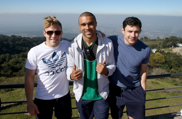 Ian Madigan, Simon Zebo and Felix Jones in Sol San Javier Tucuman