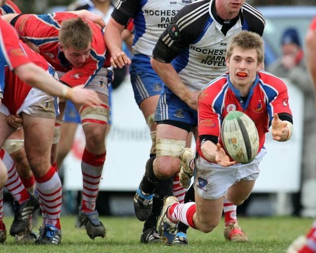 Paul Rowley gets the ball away