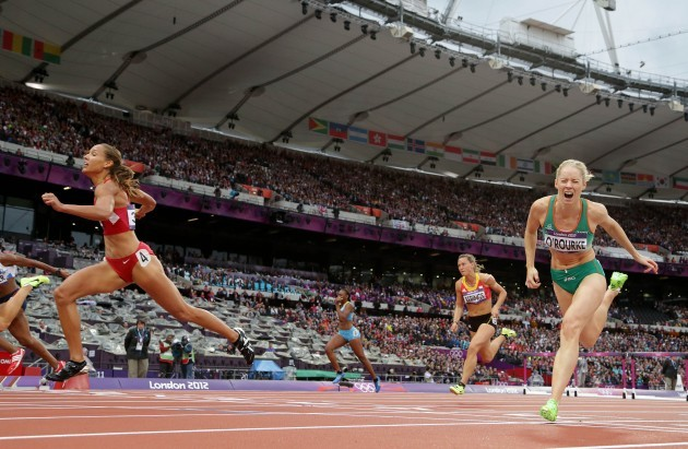 Derval O'Rourke and Lolo Jones
