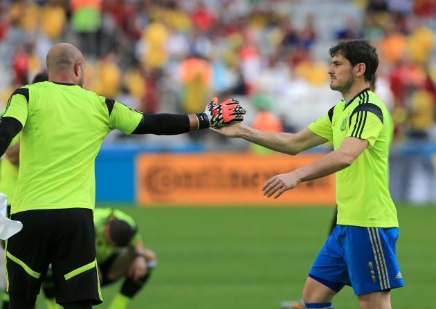 Soccer - FIFA World Cup 2014 - Group B - Australia v Spain - Arena da Baixada