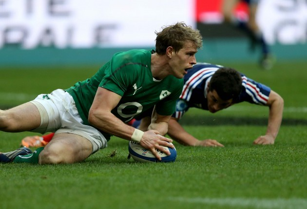 Andrew Trimble scores their second try