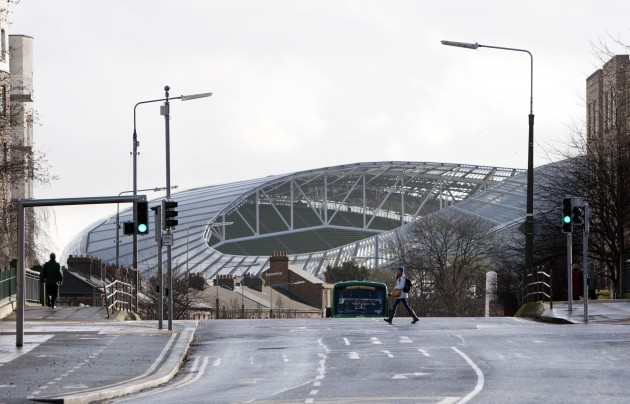 General view of the Aviva stadium ahead of today's game