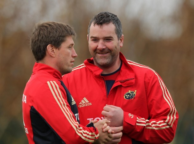 Anthony Foley and Ronan O'Gara