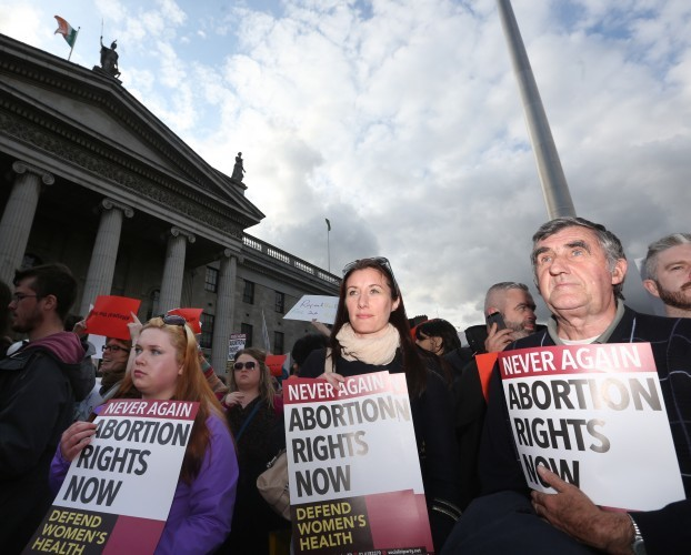 Pro Abortion Protest. Pictured (LtoR) Sin
