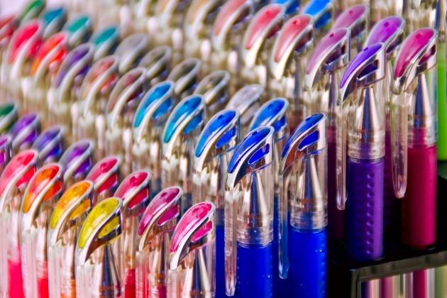 milky gel pens