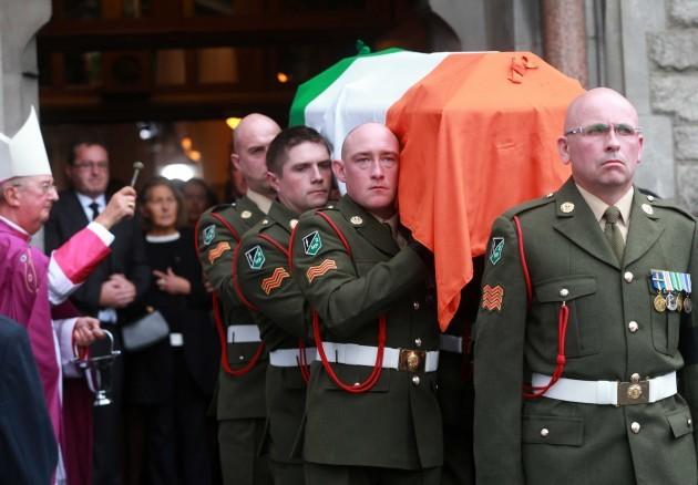 Albert Reynolds funeral. Archbishop Di
