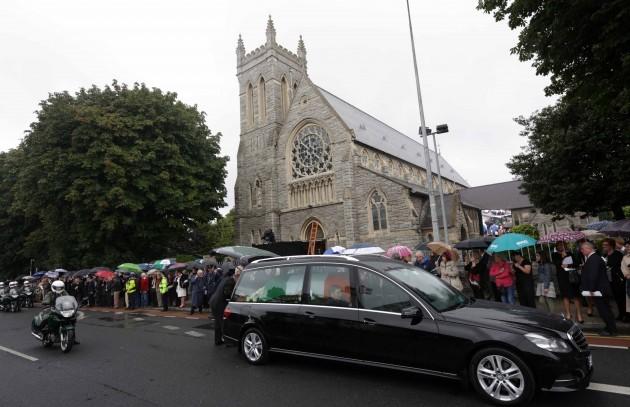 Albert Reynolds funeral. The hearse ca