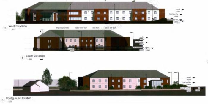 nursing home planning sketch