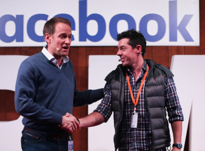 Rory McIlroy visit to Facebook International HQ - Dublin