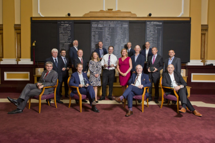 CEO and CFO graduate class of the Irish Stock Exchange's IPOready programme with ISE June 2016 with their awards at the ISE from www.ise.ie